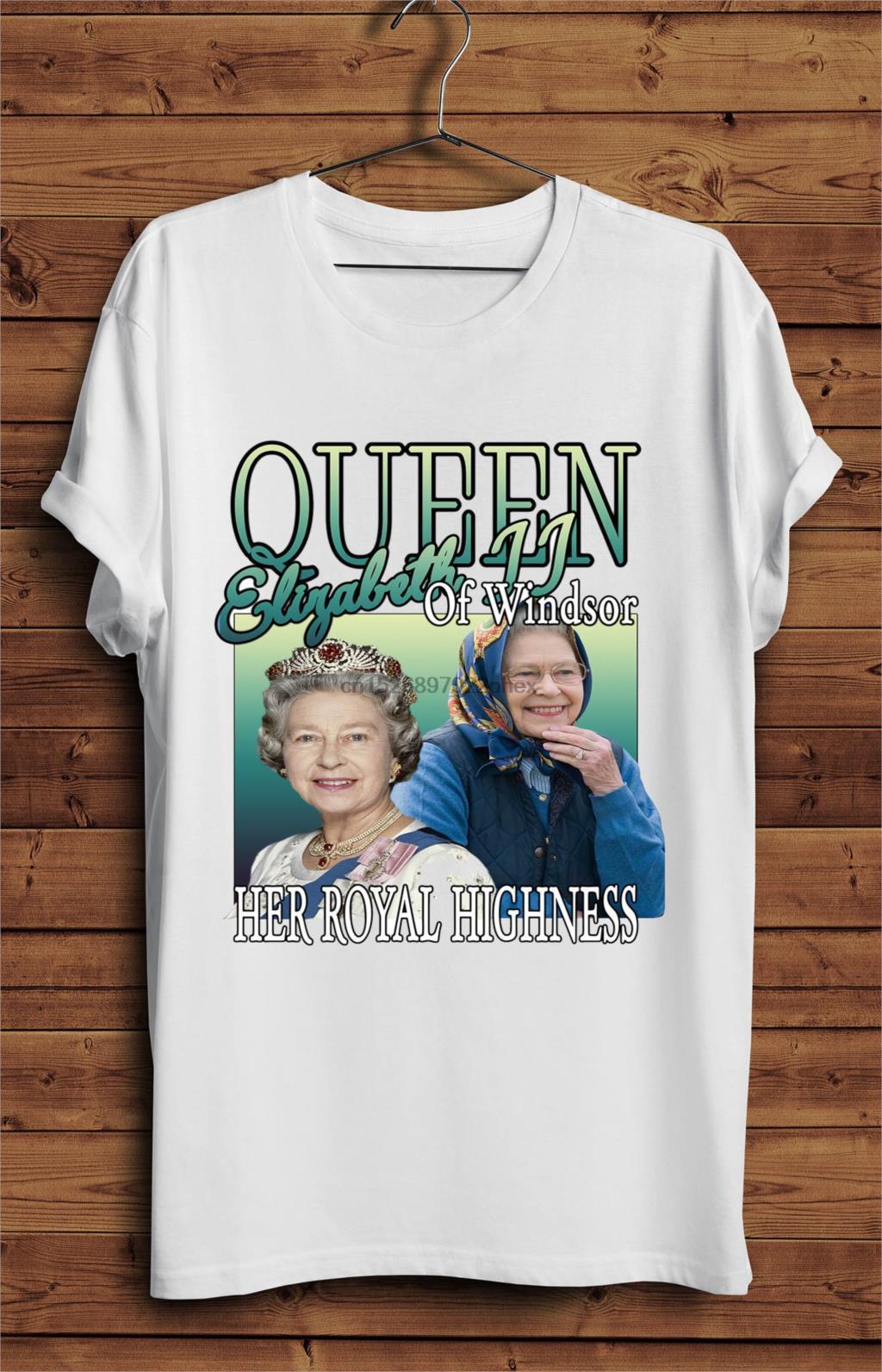 Queen Elizabeth-T-Shirt Vintage Style königliche Politik britische Männer T-Shirt