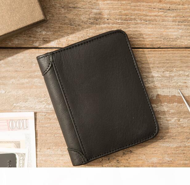Nova carteira 2020 couro clássico para homens e mulheres de lazer dos homens carteira carteira louco couro de cavalo cartões de bolsa