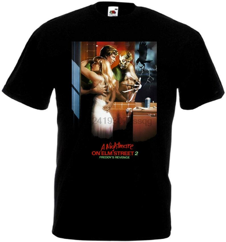 A Nightmare on Elm Street 2 v5 T-Shirt schwarzes Plakat Alle Größen S ... 5XL