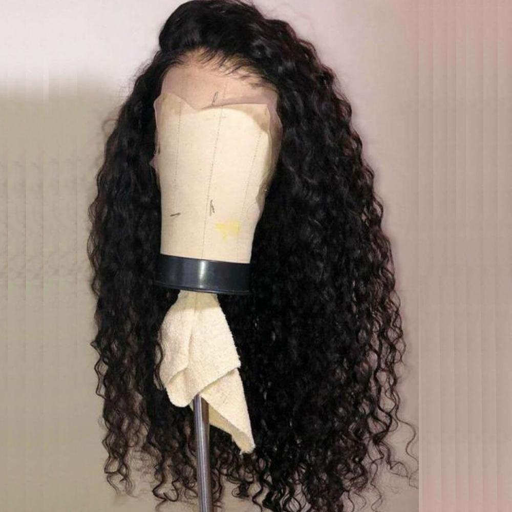 2020 vague profonde Perruques Lace Front perruques de cheveux humains pour les femmes noires Pré plumé bouclés perruques de cheveux humains au Brésil