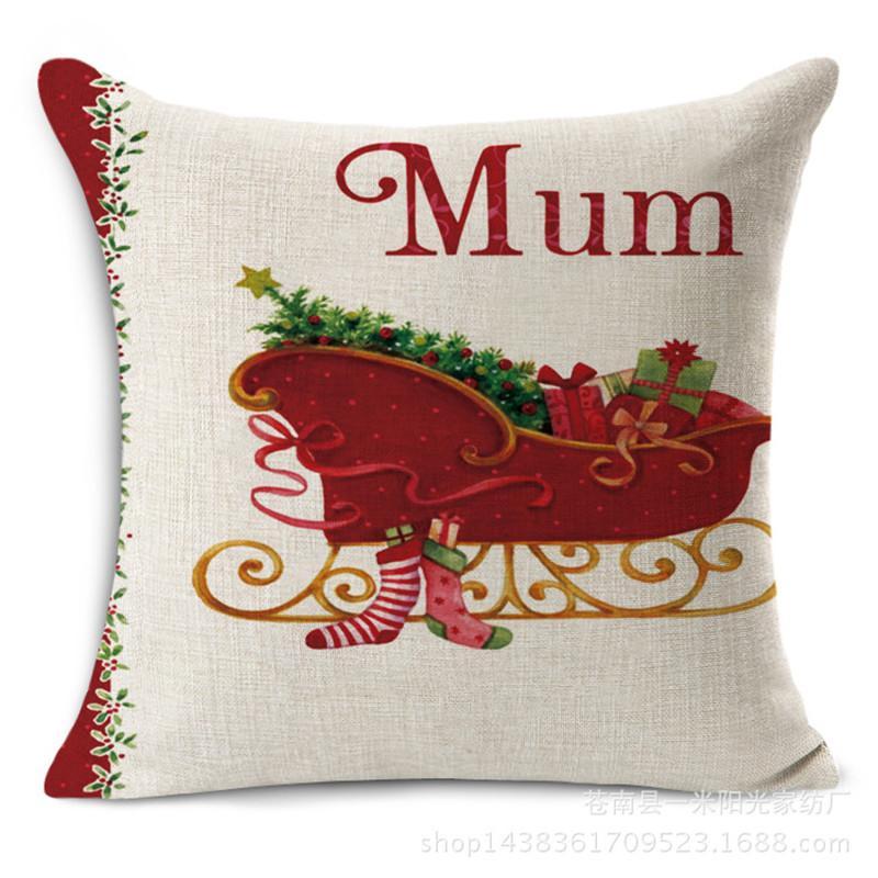 45 * Ev Dekoratif için 45CM Merry Christmas Süsleri atın Yastık Kılıfı Yeşil Ağaçlar Hediye Yastık Kapak Capa Para Almofadas