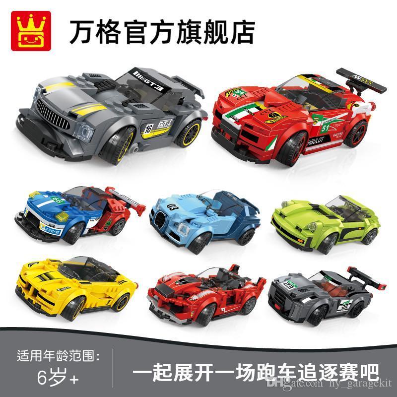 Eğlence bina blokları oyuncak spor araba montaj modeli bulmaca beyin çocukların spor otomobil serisinin çocuk oyuncakları üzerinde 3 yaşında