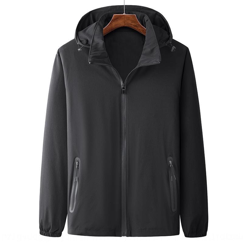 capa de la chaqueta rompevientos deportes al aire libre deportes al aire libre de los hombres rompevientos con capucha tramo versátil prueba de viento viajan chaqueta negro 3WT superior juventud