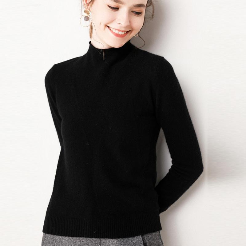 Kaschmir-Pullover weibliche Pullover Herbst neuer Pullover Frauen gesleevt lange Pullover weibliche lose Knithemd Mantel Bluse