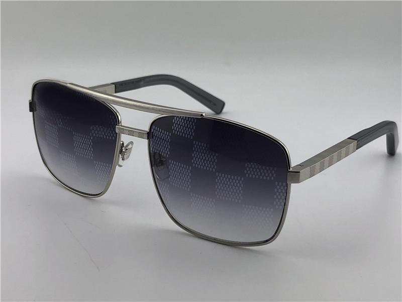 Cadre de lunettes de soleil argent avec carré Sonnenbrille gris gris classique hommes Sunglassse UV400 Box New Attitude Production NDVPA