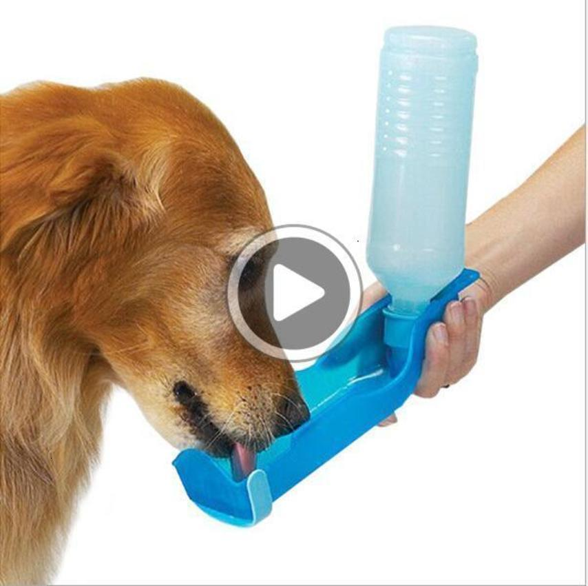 3 اللون 250ml الاتحاد القطة كلب الماء تغذية صلاة ottle موزع السفر Portale Foldale البلاستيك تغذية البومة سفر الحيوانات الأليفة المياه ottle K5343 بريان