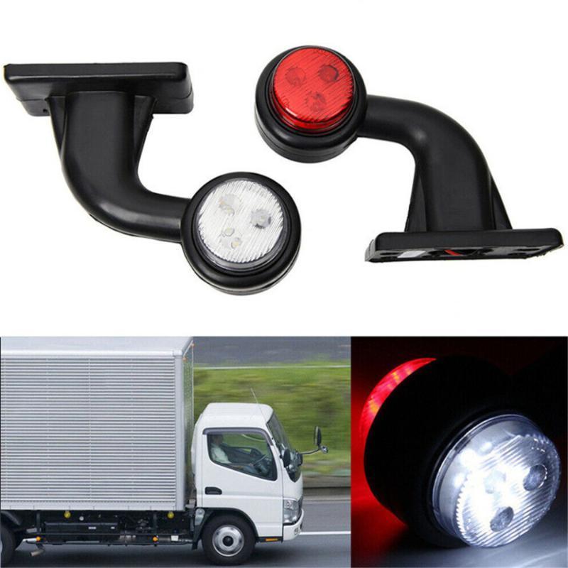 2PCS 10-30V 8 Marker Light Truck spia luminosa della lampada / 12LED laterale di coda auto per Autotreno lampade Rosso Bianco impermeabile