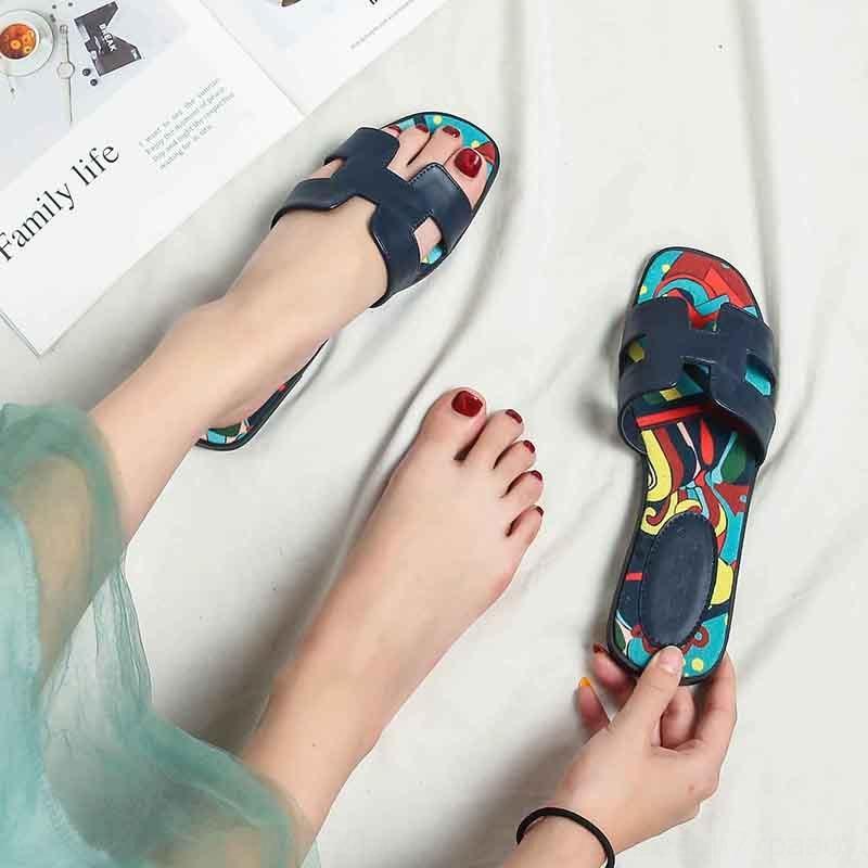 2020 nova celebridade do Internet do verão das mulheres flip-flops chinelos sandálias e chinelos padrão de moda ao ar livre todos os correspondam fundo plano flip-flop