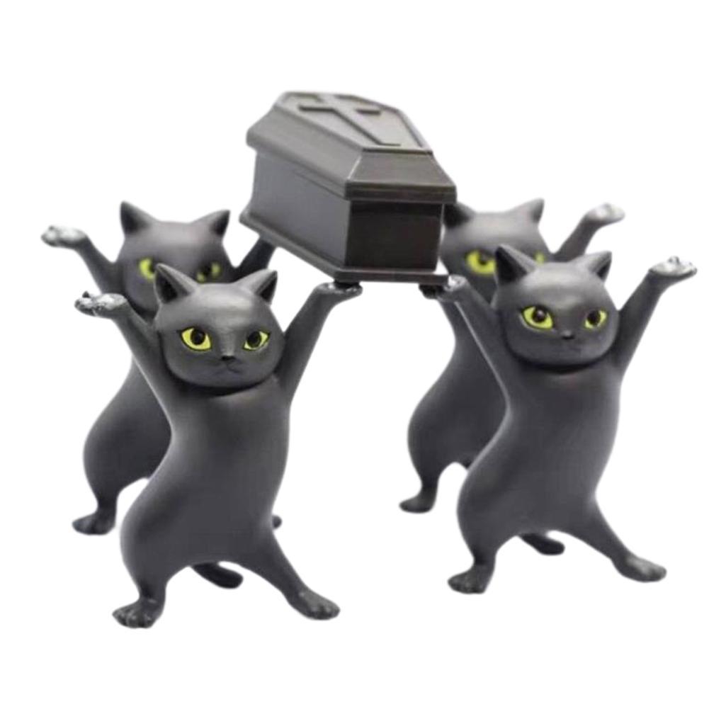 Fatto a mano regalo Desktop PVC Home Decor Doll portapenne Bara del gatto del fumetto