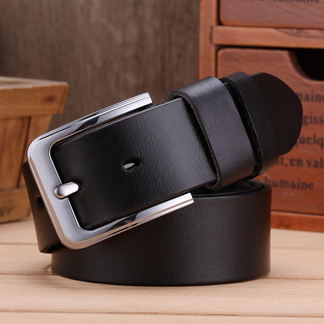Cuir couche supérieure hommes boucle de ceinture de peau de vache casual classique Broche épinglette de ceinture en cuir véritable sur mesure