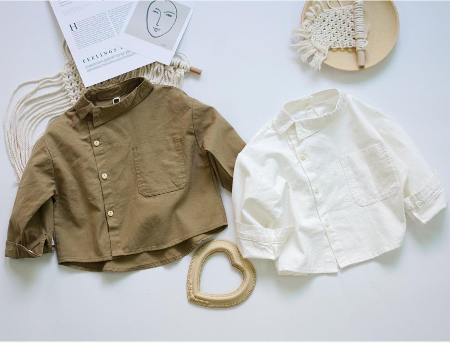 FM INS coréen Japon Enfants Filles Garçons Chemises en lin coton col Designer Boutons avant Qualité Princesse Blouses enfants Tops