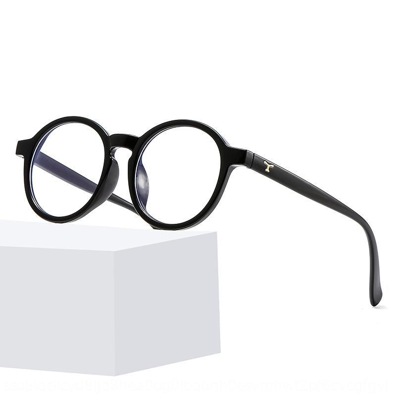 cG25q 2020 nuovi stile coreano alla moda cornice rotonda occhiali occhiali anti-blu del tutto-fiammifero tondo dimagrante faccia con cornice miopia Z3389