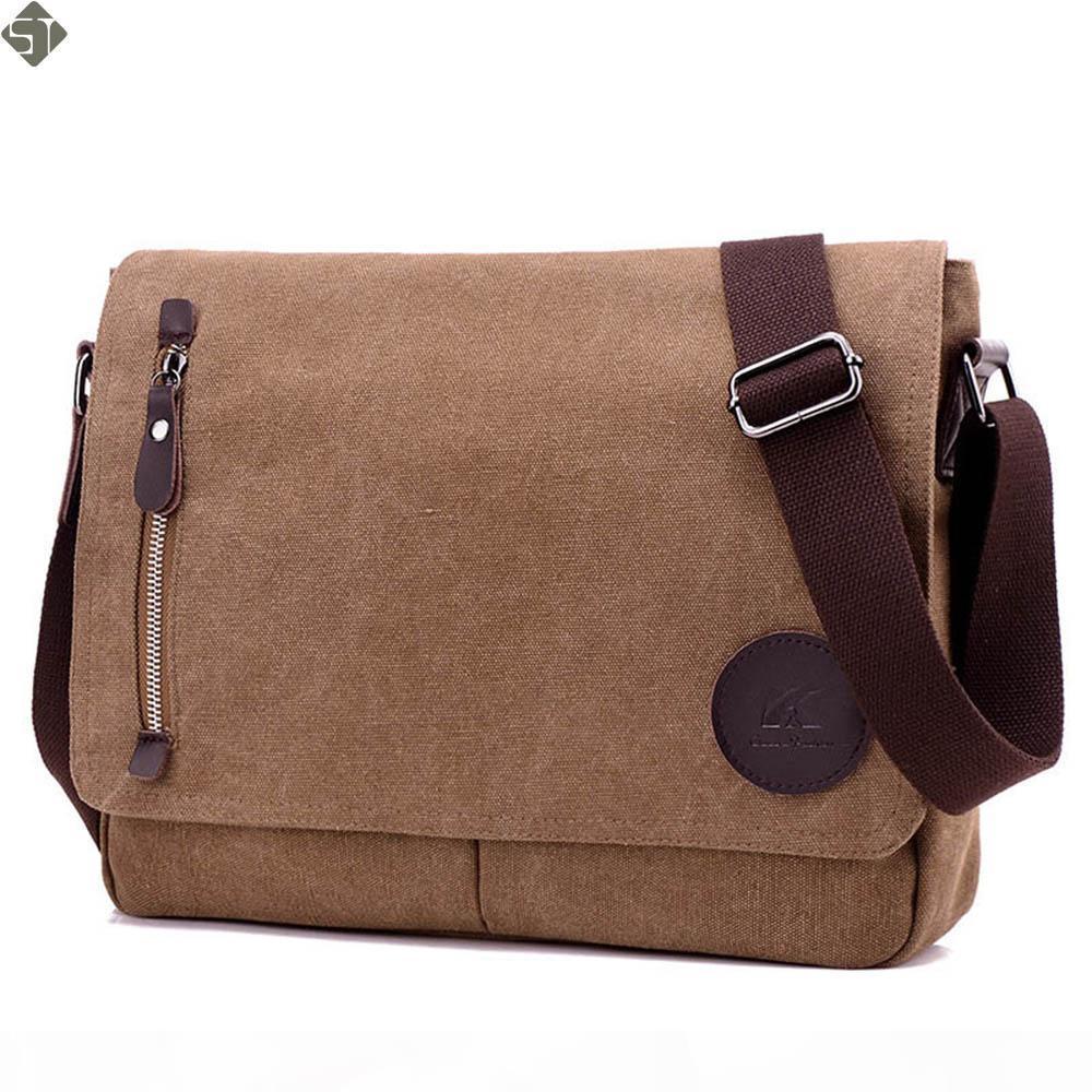 Nova moda Men lona sacos de negócios laptop pacote pasta Arquivo saco dos homens Ócio sacos