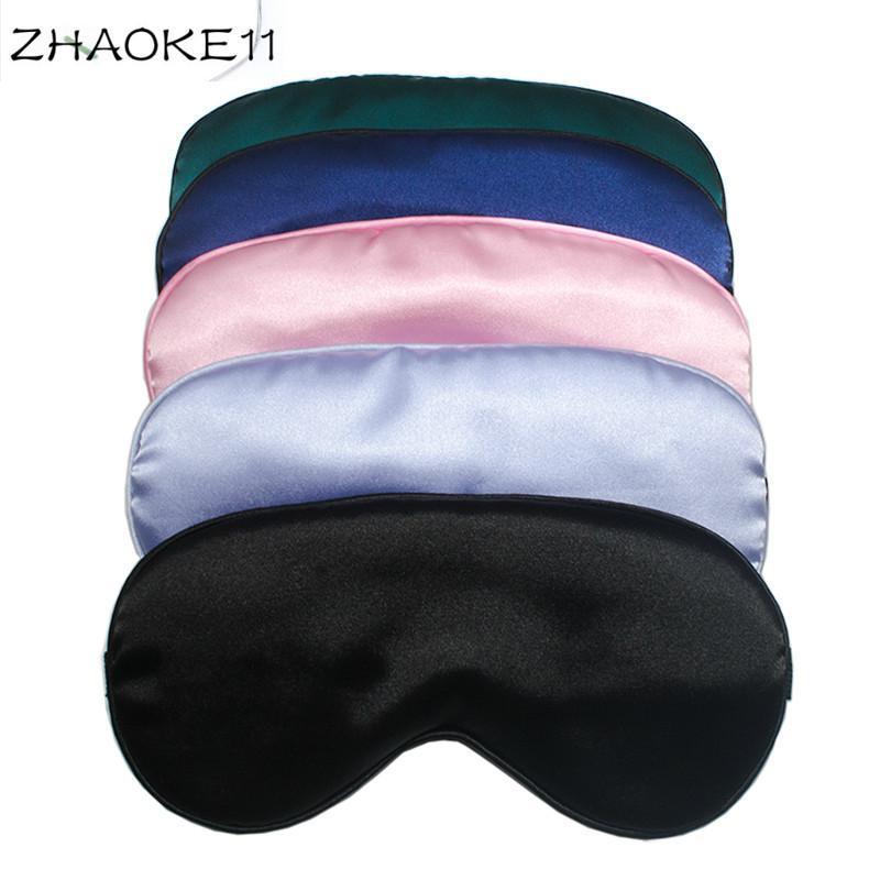 Máscara de cetim de seda dos olhos para dormir, bonito Sombra Viagem Eye Cover, Nap Blackout sono remendo Vendas de Olhos Blinders