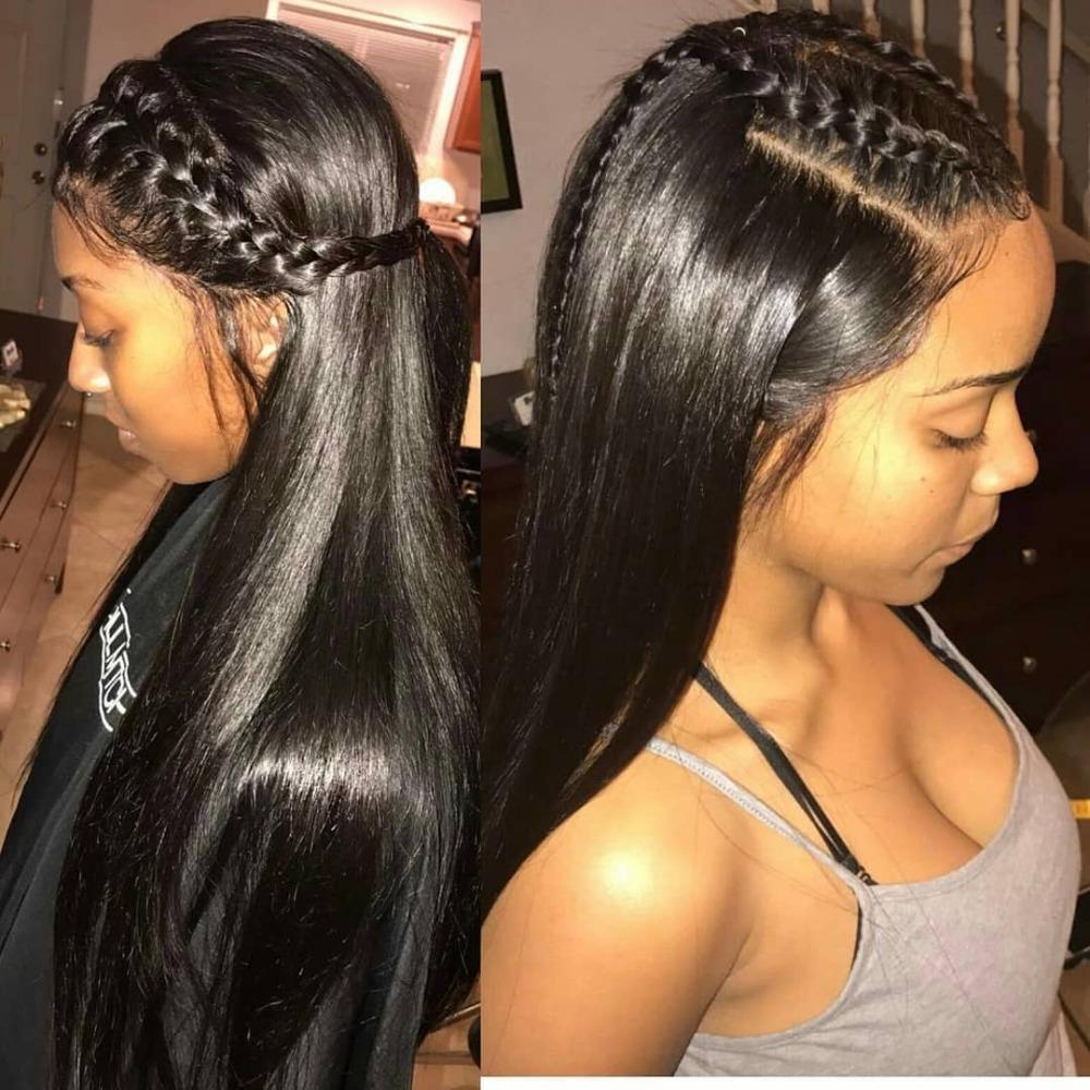 360 Lace Frontal perruques de cheveux humains Pré plumé pour les femmes noires droites courtes avant Brésilien Hd longue perruque de Remy