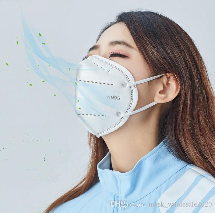 maschere kn95 monouso per uomini e donne adulti articoli protettivi polvere, nebbia e getta maschera di protezione cinque strati UV con doppio meltblo