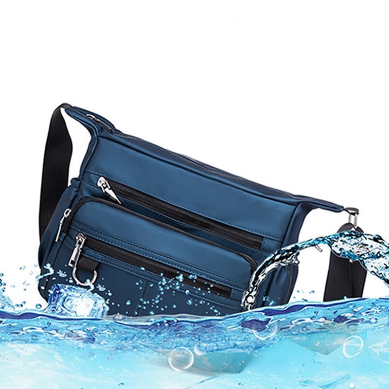 Men Bags Men Crossbody Bag Waterproof Men Shoulder Bag Casual Messenger Bags Zipper Handle Pack Multifunction Canvas Bags