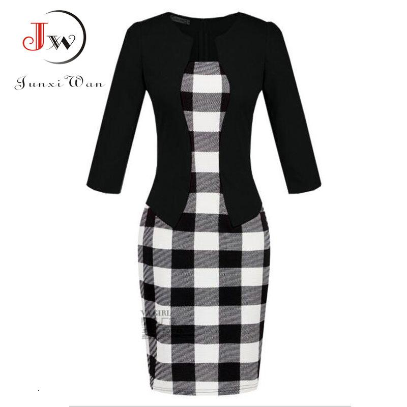 Women Patchwork Floral Print Elegant Party Formal Office One Piece Dr Plus Size Sexy Bodycon Casual Pencil Work Dres Robe