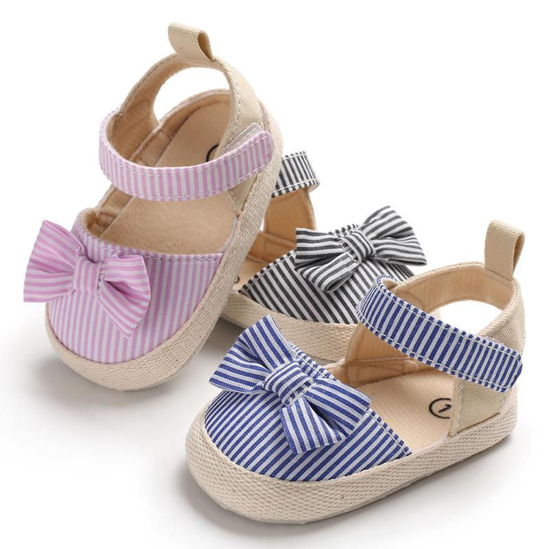 summerbowknot ребенка девушка обувь детская обувь первых ходок малыша обувь в новорожденную Prewalker кроватку ребенка вещи onlineshopping