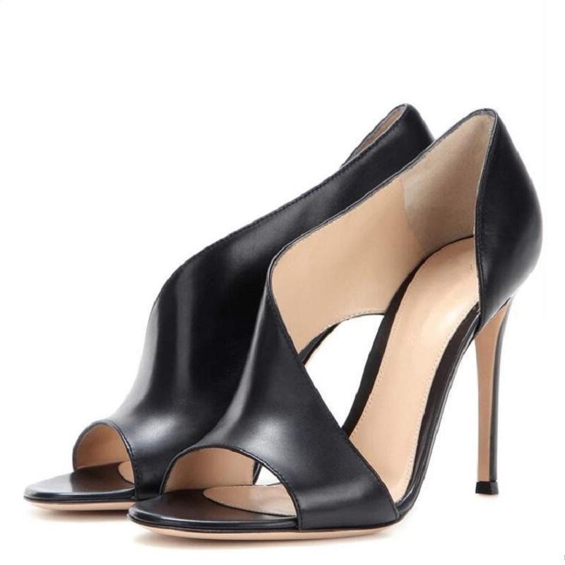 Nuovo modo di estate sottile Tacchi alti cut-out peep toe Shallow locale notturno sexy Plus Size 42 43 donne Gladiator Sandals 20.200.616
