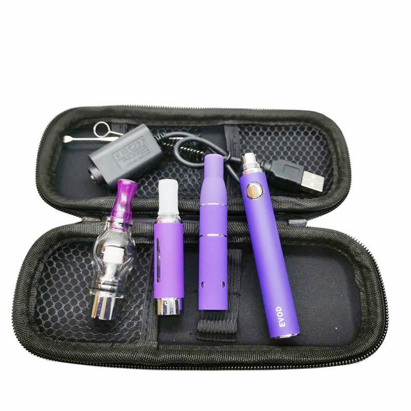 Magia 3 em 1 vaporizador para cera de óleo líquido à base de plantas com ago G5 MT3 atomizador globle de vidro EVOD kits de bateria de arranque E cigarros