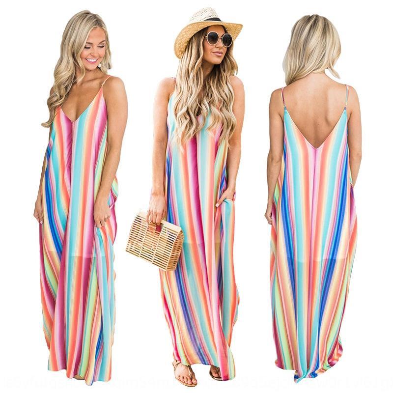 La sexy robe d'été Femmes Sling plage Jupe jarretelle en mousseline de soie couleur bohème jupe de plage XAVwK