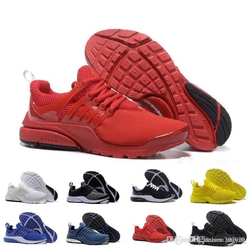 2019 TOP PRESTO 5 BR QS Respirare Scarpe Nero Bianco Giallo Rosso Mens Sneakers pattini casuali delle donne degli uomini caldi di pattini del progettista scarpa a piedi