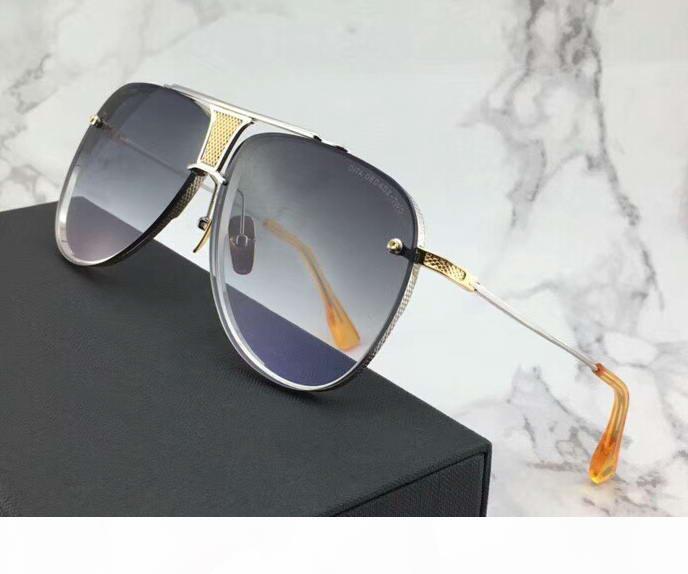 Special Edition 20 occhiali da sole Anniversario Argento Oro Grigio Gradient Lens Designer di lusso occhiali da sole con la scatola