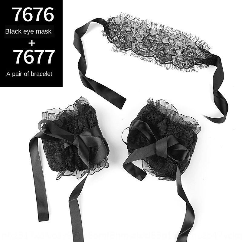 svk5Z MoMu cameriera sexy intimo accessori accessori giocattoli pizzo braccialetto alternativa braccialetto maschera intima occhio impostata 7676-7677-7678