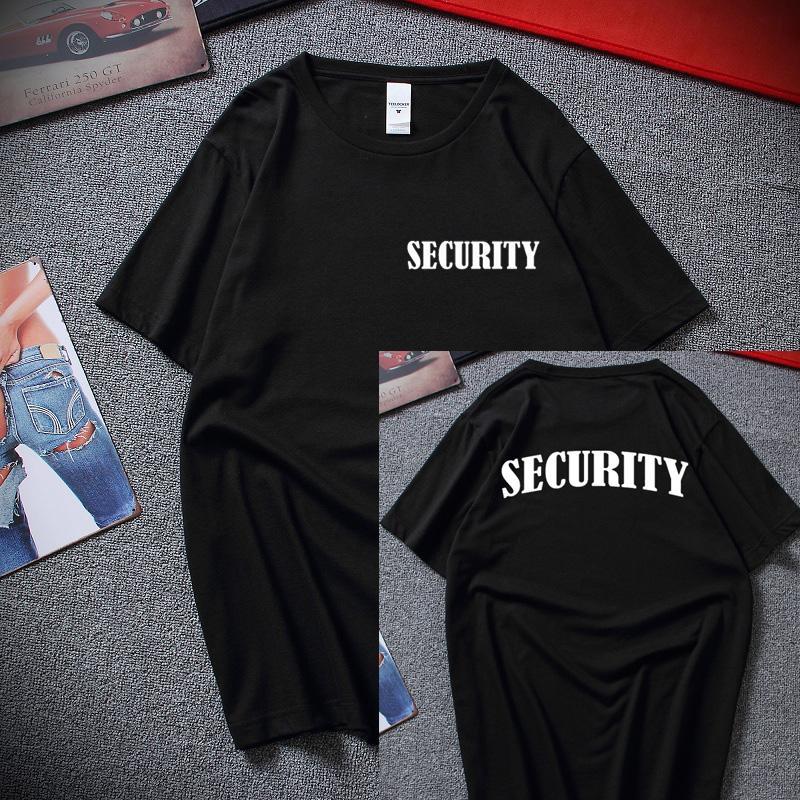 Sicherheits-T-Shirt Ereignis Bouncer Mitarbeiter Printed Uniform Front und Rückseite