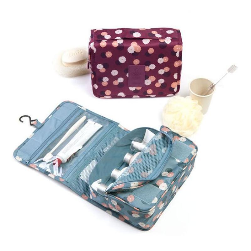 Организатор женские сумки хранения путешествия наборы наборы сумки красоты макияж многофункциональный туалетные принадлежности косметические мытью нейлоновый макияж мешочек Udxev