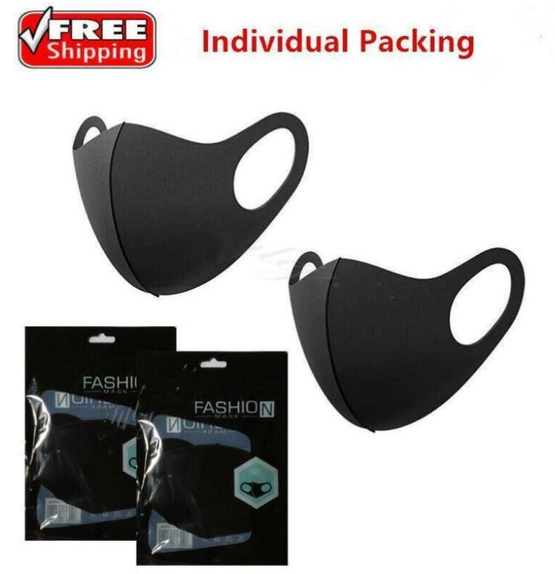 Máscaras de diseño de moda lavable protectora de la cara Negro de algodón reutilizable para adultos niños del polvo anti Ciclismo Boca Máscara paño de los niños Máscaras FY9041