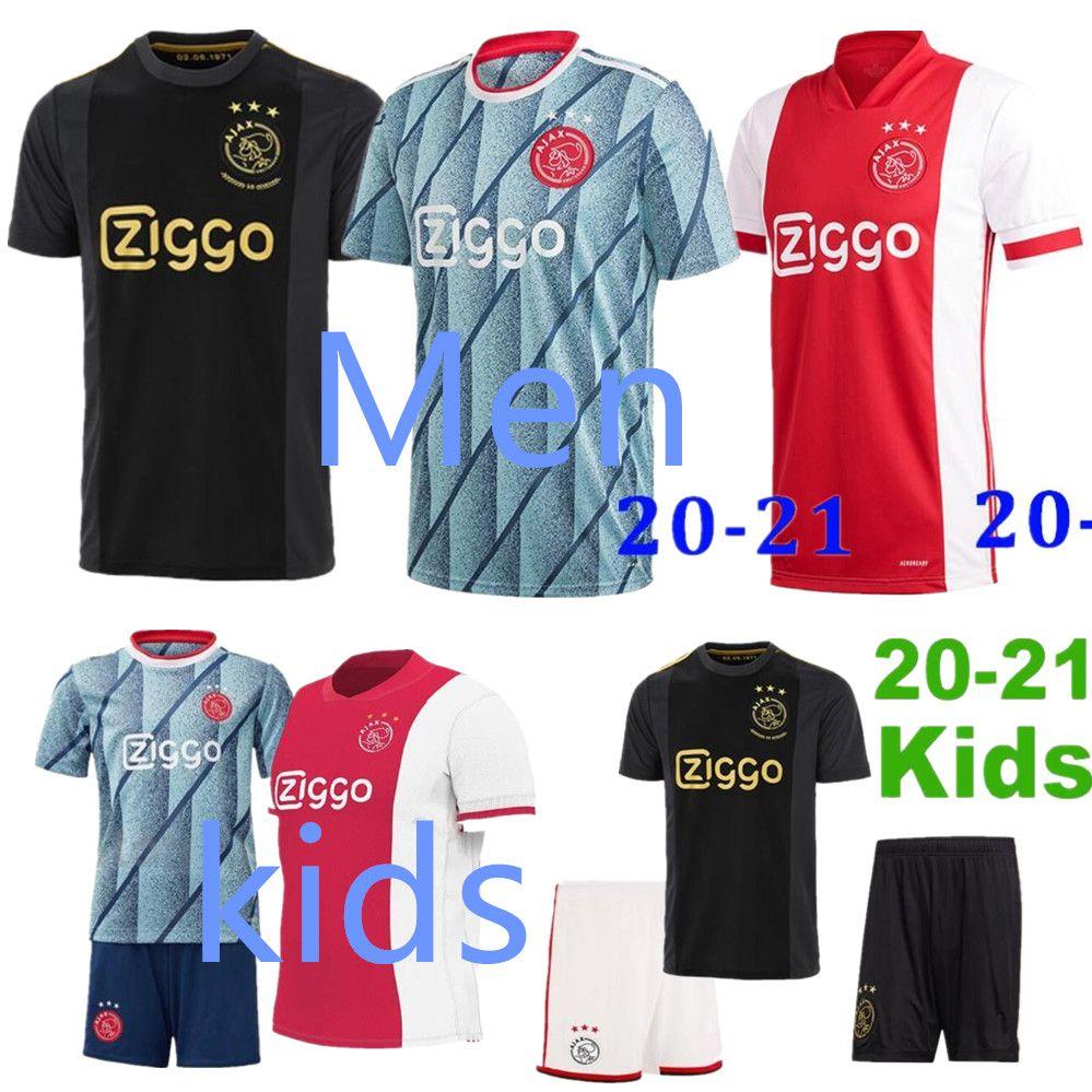 20 21 ajax jérsei de futebol amsterdam 2020 2021 PROMES ÁLVAREZ TADIC NERES van Beek homens crianças kit de futebol camisas uniformes BLIND terceiro 50º