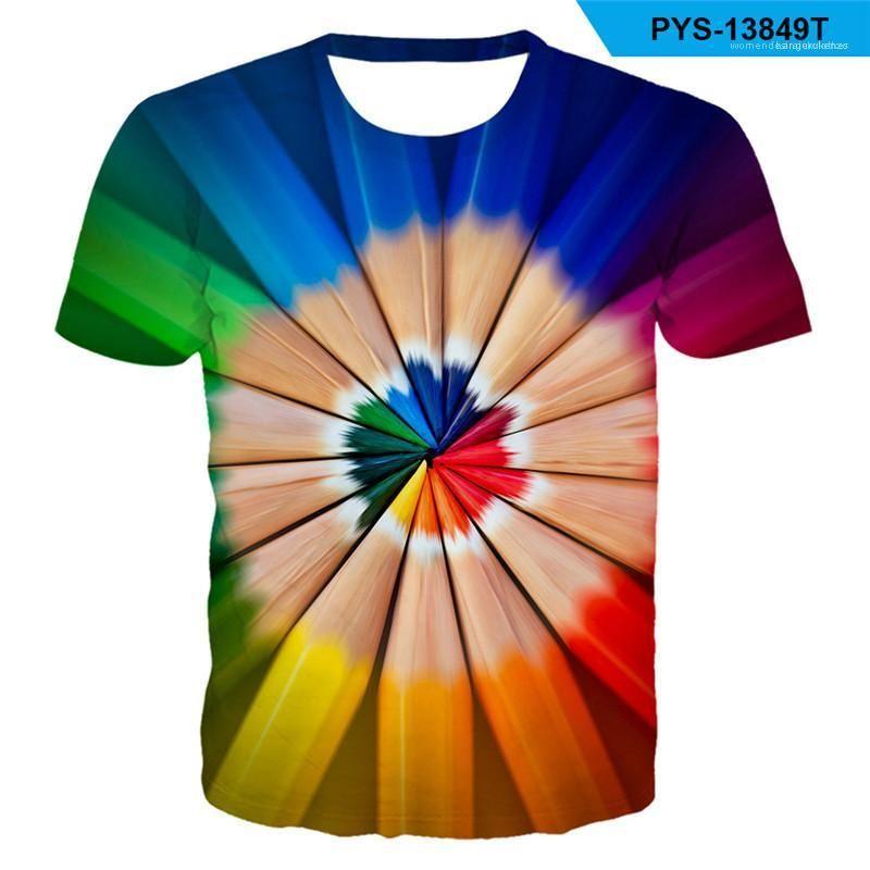 T-shirts en vrac ras du cou à manches courtes Tie Dye Imprimé Hauts Street Style Hommes Vêtements d'été Homme Designer Plus Size 6XL