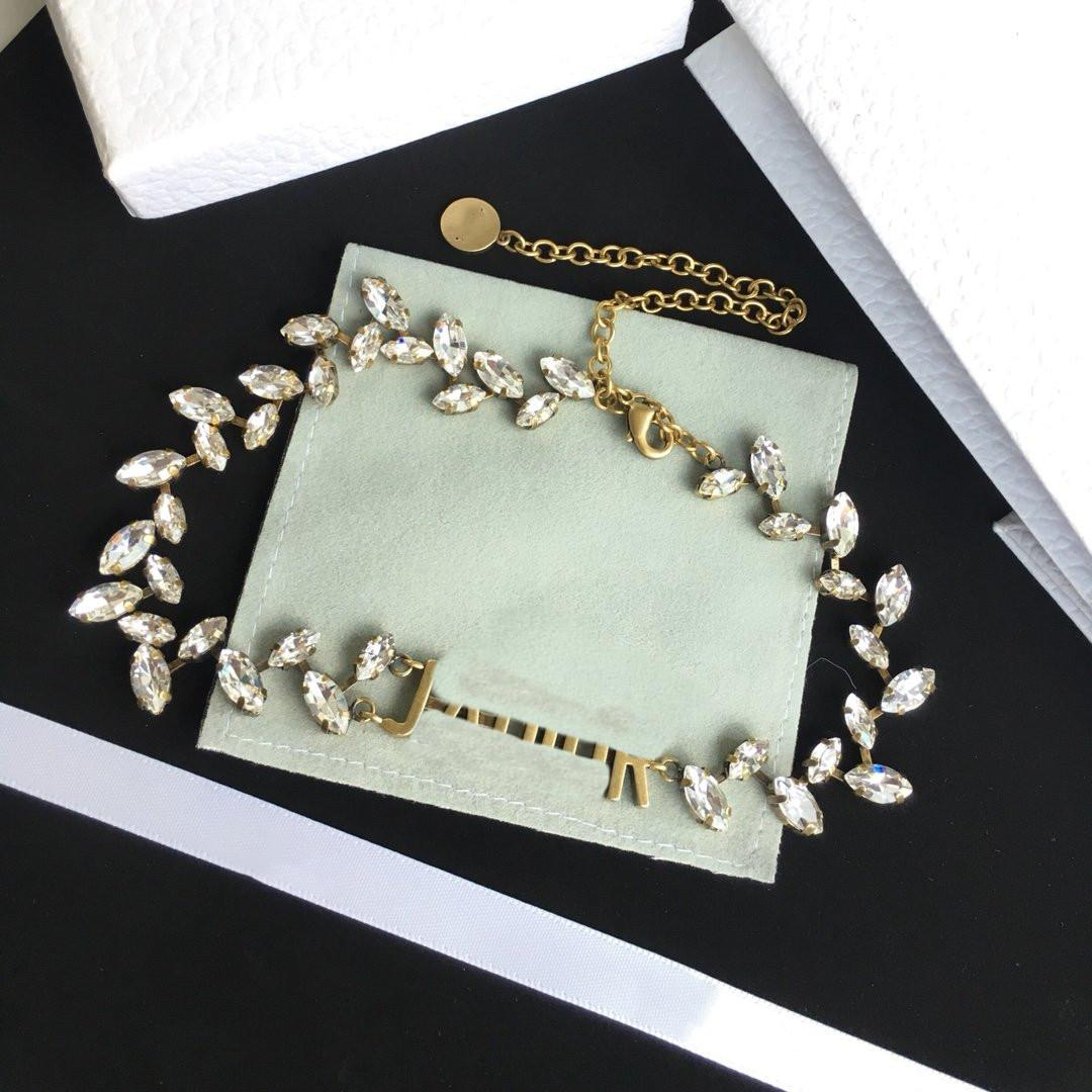 Presente Supply Chain Hot venda Rhinestone Mulher Colares Colar Tendência Colar longo colar do encanto moda jóias