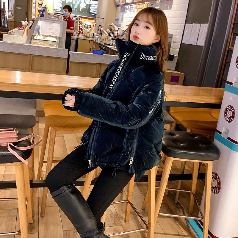 New Winter Jacket High Quality Stand Collar Coat Women Fashion Glitter Jackets Winter Warm Woman Clothing Casual Parkas Regular