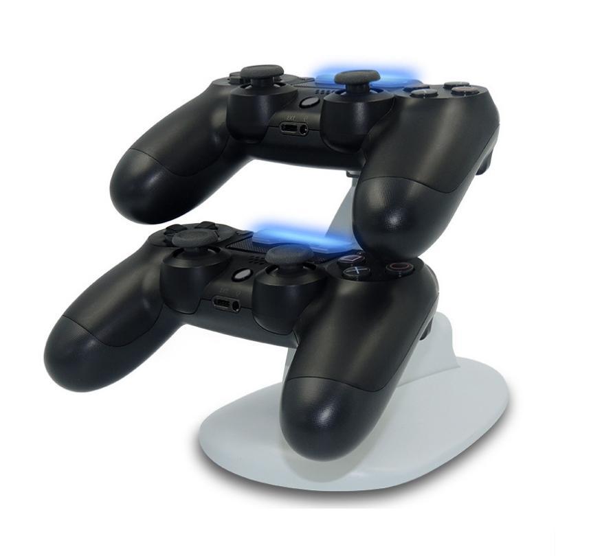 Jeu 4 PS4 siège d'aéronef de commande sans fil USB à deux places chargeur Blu-ray alimentation automatique chargeur de siège de PS4 / chargeur de poignée