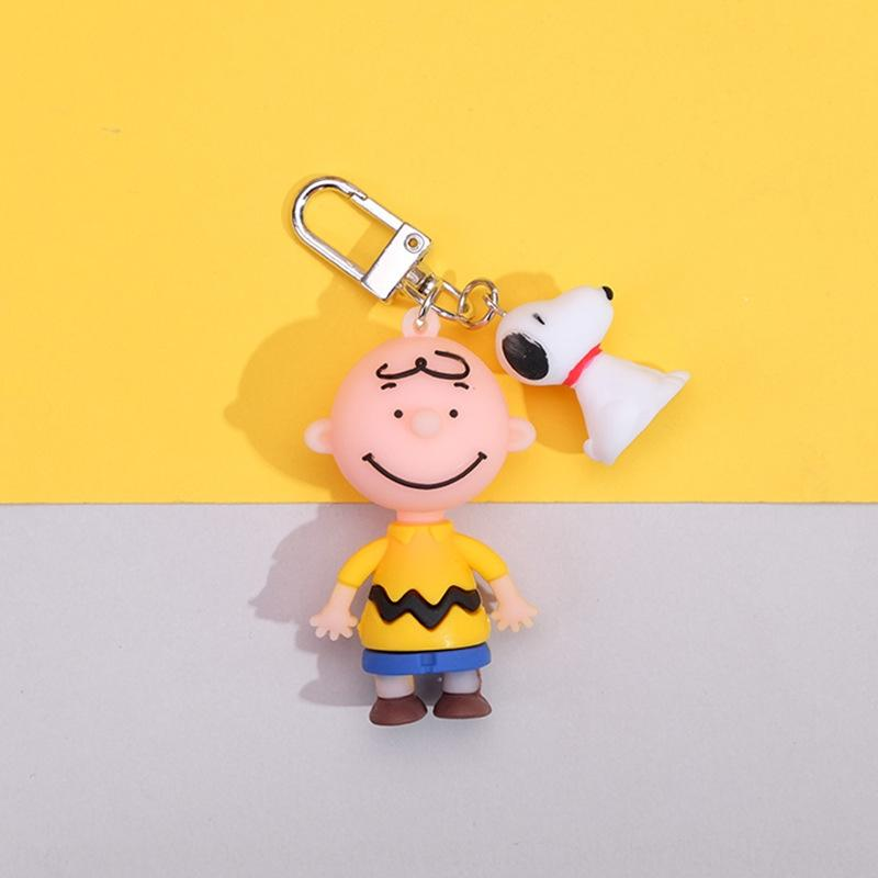 9SRfy Korean ins cartoon dropper Snoopy Charlie Brown keychain unisex bag Key Chain pendant pendant gift