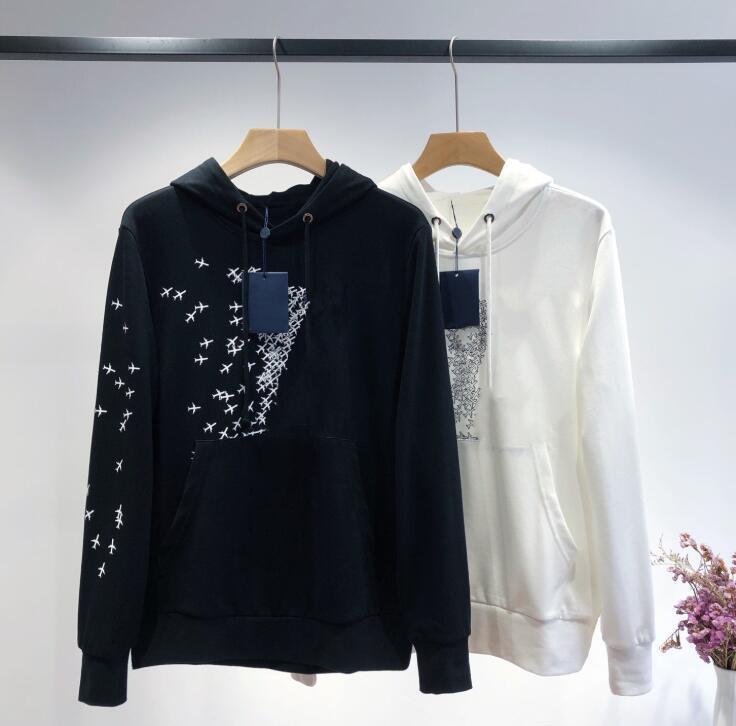 Neue Männer und Frauen Brief weist beiläufigen Druck mit Kapuze Pullover Mantel Top-T-Shirt freies Verschiffen lose Baumwolle Abnehmen Allgleiches