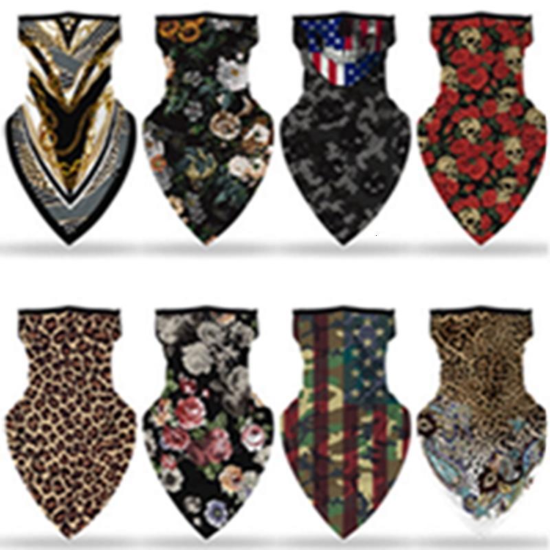 Drapeau imprimé américain Masque de protection pare-soleil hommes et les femmes Hanging Earmuffs Triangle Foulard Masque EEA1444