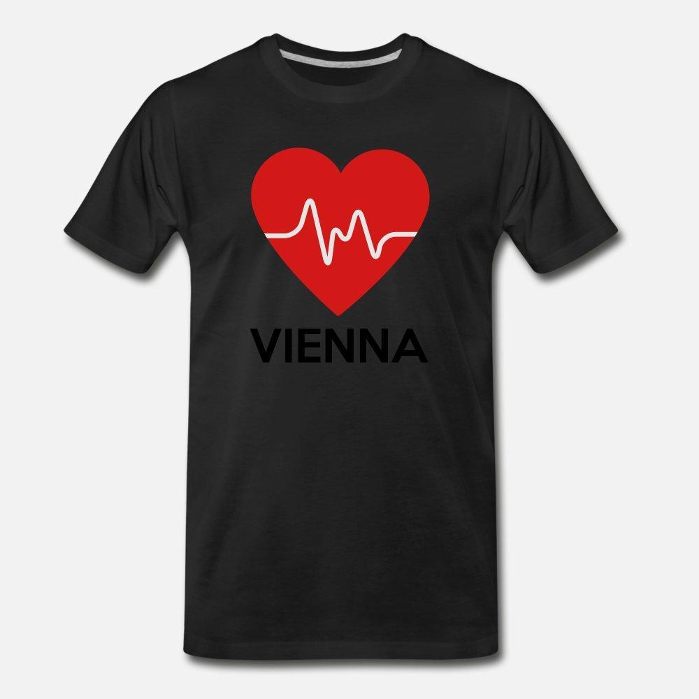 Coeur Vienne t shirt homme Customize coton col rond de loisirs anti-rides Nouveau style d'été de style Outfit chemise
