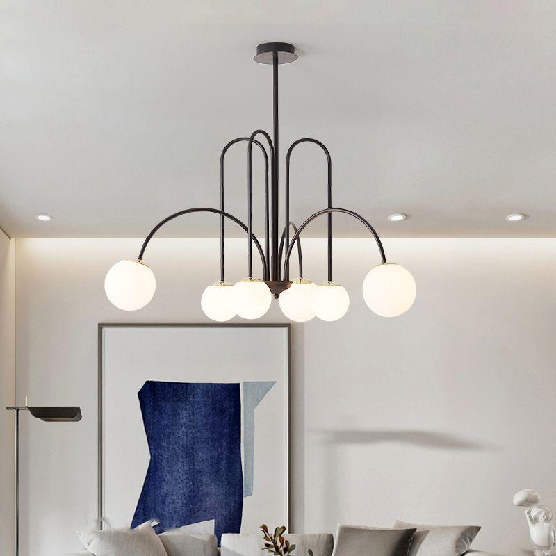 Nordic Magic Bean LED Kronleuchter Licht für Wohnzimmer Esszimmer Schlafzimmer Küche G9 Gold Schwarz Loft Glaskugel Hängelampe
