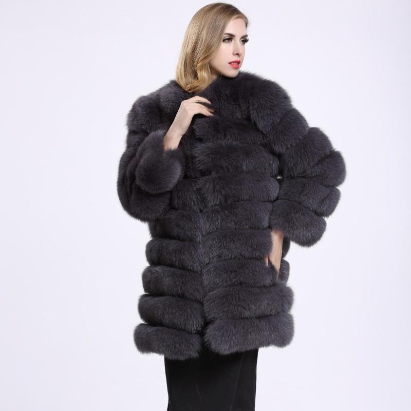 Savabien 7 punti di lusso Donne Faux Fur Coat Plus Size Furry morbida pelliccia falsa Giacca elegante caldo Cappotti Ufficio Streetwear