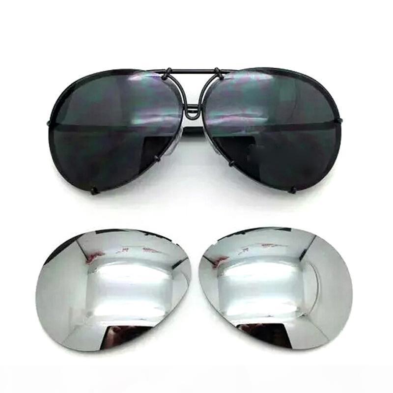 2018 calientes de la venta intercambiables 8478 gafas de sol de la lente reemplazable hombres o mujeres UV400 Sun de la manera de la aviación protección gafas