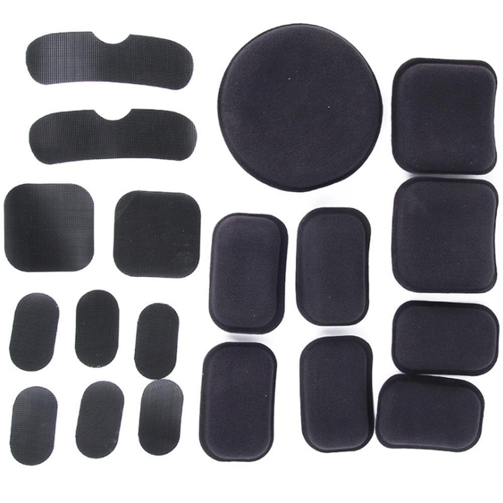 19 Pcs Easy Install Magic Sticker EVA Foam Helmet Pads Set DIY Outdoor Sports
