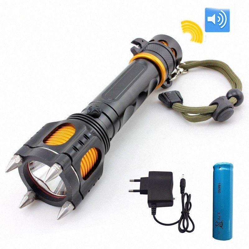 Оборонительный Мощный T6 водить наивысочайшей мощность многофункциональных вспышек фонарика Тактических лампы Лампа Факел для охоты Lenser Факелы Лучшего Huntin oTiT #
