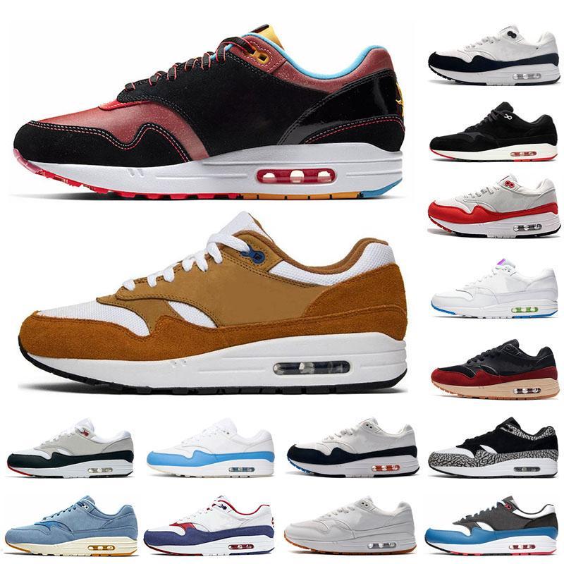 Moda 1s hombres mujeres zapatos para correr 1 Aniversario real JOYA Parche Negro elefante zapatos para hombre de 87 CNY formadores las zapatillas de deporte 36-45