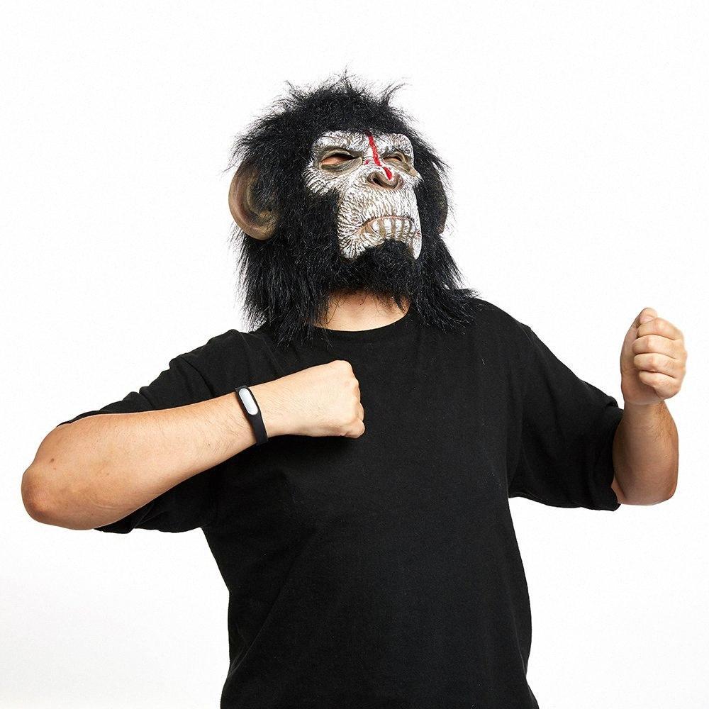 Ape Orangutan Kafa Cadılar Bayramı Korku Korku Hayvan Maymun Pantheon Dış Ticaret Siyah Ve Beyaz Mas PLkj # Maskeli Maskeler Maske Rise Maske