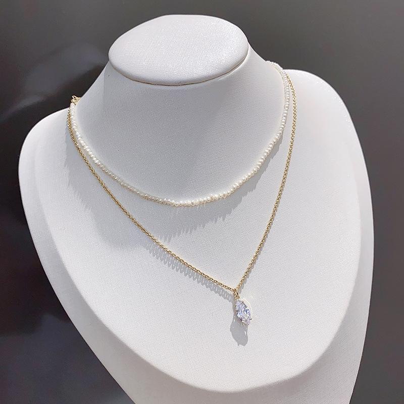 Exquisite einfache hipster Perle Super-Fee-Anhänger Perle Anhänger Halskette Allgleiches Halskette Dame Temperament WC