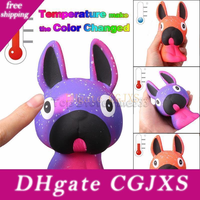 La salpicadura antiestrés Jumbo perro Glaxy temperatura de color cambio lento aumento de estrés perfumado blando Niños Juguetes mitigador de regalo juguetes para los niños